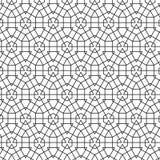Abstracte Geometrische Hexagonale het Patroon van Driehoekslijnen Vector Naadloze Illustratie Als achtergrond Stock Afbeelding