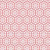 Abstracte Geometrische Hexagonale het Patroon van Rechthoek Rode Lijnen Vector Naadloze Illustratie Als achtergrond stock illustratie