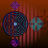 Abstracte geometrische karmozijnrode achtergrond Stock Foto's