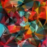 Abstracte geometrische kleurrijke achtergrond. Royalty-vrije Stock Afbeeldingen