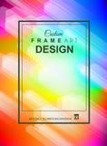 Abstracte Geometrische kleurrijke achtergrond met hoog verzadigde gradi Royalty-vrije Stock Foto's