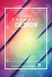 Abstracte Geometrische kleurrijke achtergrond met hoog verzadigde gradi Stock Afbeelding
