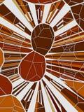 Abstracte geometrische lage poly van conceptenvoronoi tesselated patroon het 3d teruggeven Royalty-vrije Stock Fotografie