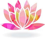 Abstracte geometrische lotusbloembloem in veelvoudige kleuren Stock Foto