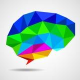 Abstracte geometrische menselijke hersenen van driehoeken Stock Fotografie