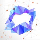 Abstracte geometrische mozaïekring Stock Afbeelding