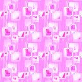 Abstracte geometrische naadloze achtergrond Het regelmatige ingewikkelde vierkantenpatroon met golvende lijnen doorboort, violett Stock Fotografie