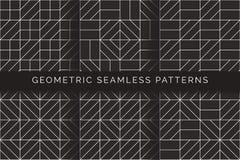 Abstracte geometrische naadloze patronen stock illustratie