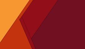 Abstracte geometrische oranjerode en gele materiële ontwerpachtergrond Royalty-vrije Stock Fotografie