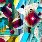Abstracte geometrische patroonachtergrond Royalty-vrije Stock Foto