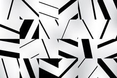 Abstracte geometrische patroonachtergrond met zwart-witte gestreepte vierkanten U kunt uw beeld bedekken Royalty-vrije Stock Foto