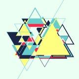 Abstracte geometrische retro kleurrijke achtergrond Stock Foto's