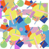 Abstracte geometrische sierachtergrond Royalty-vrije Stock Foto