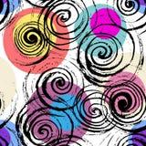 Abstracte geometrische spiraalvormige achtergrond stock illustratie