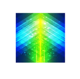 Abstracte geometrische stijl groene en blauwe achtergrond Stock Foto