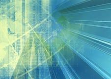 Abstracte geometrische technologie grafische elementen Royalty-vrije Stock Afbeeldingen