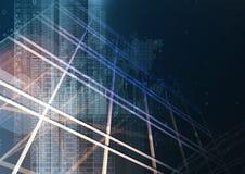 Abstracte geometrische technologie grafische elementen Stock Afbeelding