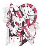 Abstracte geometrische tekening Stock Foto