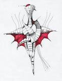 Abstracte geometrische tekening Stock Fotografie
