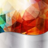 Abstracte geometrische uitnodiging of afficheachtergrond Stock Foto's