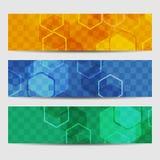 Abstracte geometrische uitnodiging of banner Vector illustratie Vector Illustratie