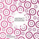 Abstracte geometrische vector als achtergrond van cirkelsrood voor het schermspaarder, banner Stock Foto's
