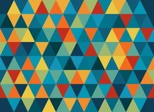 Abstracte geometrische vectorachtergrond, driehoekspatroon Stock Fotografie