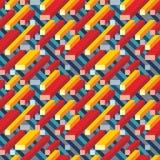 Abstracte geometrische vectorachtergrond voor presentatie, boekje, website en ander ontwerpproject Het mozaïek kleurde naadloos p vector illustratie
