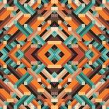 Abstracte geometrische vectorachtergrond voor presentatie, boekje, website en ander ontwerpproject Mozaïek gekleurd patroon stock illustratie