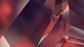 Abstracte geometrische veelhoekige motieachtergrond Video collectief voorzag animatie van een lus het 3d teruggeven 4K, Ultrahd-r stock illustratie