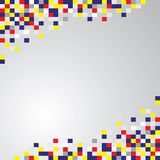 Abstracte geometrische vierkantenachtergrond Royalty-vrije Stock Foto's