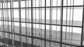 Abstracte geometrische vloeren en vormen Illustratie 3d geef terug vector illustratie