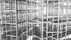 Abstracte geometrische vloeren en vormen Illustratie 3d geef terug stock illustratie
