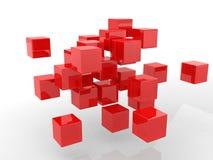 Abstracte geometrische vormen van kubussen. Royalty-vrije Stock Foto