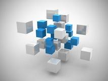 Abstracte geometrische vormen van kubussen Royalty-vrije Stock Afbeelding