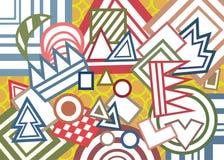 Abstracte geometrische vormenachtergrond Royalty-vrije Stock Foto's