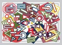 Abstracte geometrische vormenachtergrond Stock Afbeelding