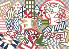 Abstracte geometrische vormenachtergrond Royalty-vrije Stock Afbeeldingen