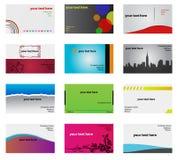 Abstracte geplaatste adreskaartjes Stock Afbeeldingen