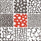 Abstracte geplaatste krabbel naadloze patronen Royalty-vrije Stock Afbeeldingen