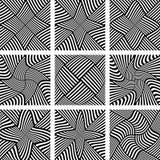 Abstracte geplaatste patronen De elementen van het ontwerp Stock Foto