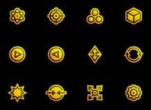 Abstracte geplaatste pictogrammen Stock Afbeeldingen