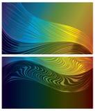 Abstracte geplaatste spectrumachtergronden Stock Foto