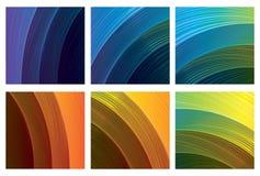 Abstracte geplaatste spectrumachtergronden Stock Foto's