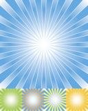 Abstracte geplaatste stralenachtergrond cmyk Royalty-vrije Stock Afbeeldingen