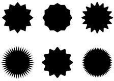 Abstracte geplaatste Zonnestraal vectorkentekens Royalty-vrije Stock Afbeelding