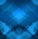 Abstracte geruite achtergrond met borstelslagen Stock Fotografie