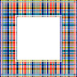 Abstracte geruite grens Stock Foto