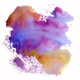 Abstracte geschilderde waterverfhand Royalty-vrije Stock Foto's