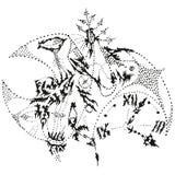 Abstracte gestileerde B&W koekoeksklok Stock Afbeelding